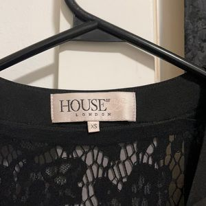 Lace House of CB black dress